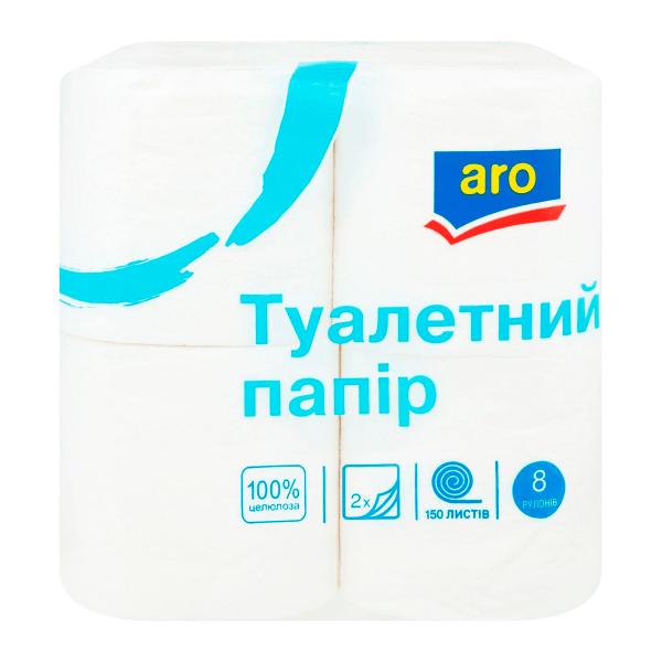 Папір туалетний Aro (Аро) 8шт - rosiana.ua - 380-44-303-999-3