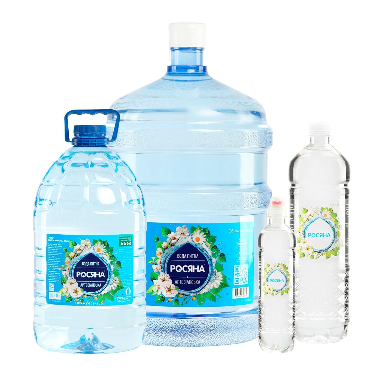Вода питна Росяна™ - доставка воды - rosiana.ua - 380-44-303-999-3